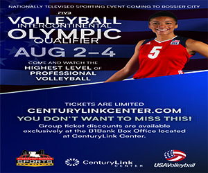 Advertisement – Shreveport-Bossier Sports Commission Volleyball Intercontinental Olympic Qualifier